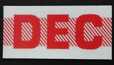Old School 60's, 70's RED/WHITE Vintage Style CALIFORNIA MONTH STICKER. DECEMBER