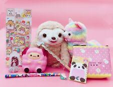 2018 KAWAII BOX 10 Items Sloth Cute Rainbow Alpaca Llama Pin Squishy Lucky Bag