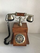Telefono Fijo Siecle Collection de Madera Maciza Funcionando Antiguo. 1999