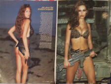 Kelly Brook ISRAEL 2xMINI POSTER Model SEXY UK BABE Lingerie Bikini PLAYBOY