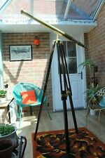 Brass Telescope and Tripod