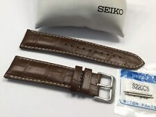 SEIKO NEW GENUINE 22MM BROWN LEATHER STRAP- SSC509 - PT# L07N01CJ9