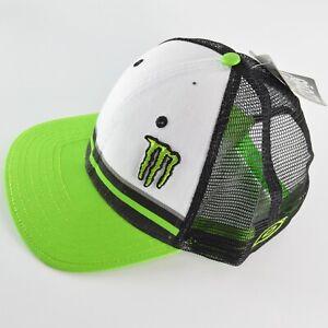 MONSTER ENERGY ONEAL TRUCKER CAP hat DIETRICH motocross White Green snap back