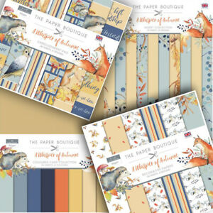 """The Paper Boutique """"A Whisper of Autumn"""" Collection Card Making Papers"""
