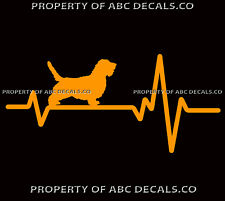 Heart Beat Line Dog Petit Basset Griffon Vendeen Adoption Rescue Car Vinyl Decal