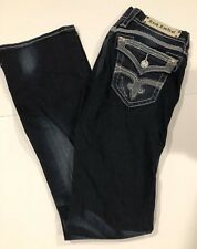 ROCK REVIVAL Buckle MAGGIE BOOT STRETCH EMBELLISHED JEANS SIZE 27 Woman's