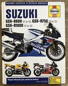 Suzuki GSX-R600 01 03 GSX-R750 00 03 GSZ-R1000 01 02 Haynes Service Repair