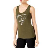 INC NEW Women's Embellished Heart Graphic Scoop Neck Tank Shirt Top TEDO