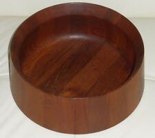 Mid Century Large Dansk Designs Wooden Salad Bowl - 10.5""