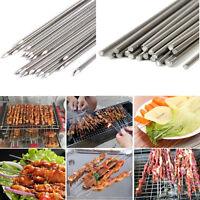 50X Edelstahl BBQ Grillspieße Barbecue Fleischspieße Schaschlikspieße Nadel 35cm