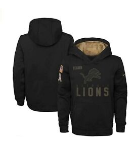 Detroit Lions Nike Youth Boys 2020 Salute to Service Pullover Hoody Sweatshirt