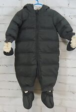 Baby GAP Snowsuit Down Fill Puffer Romper Bunting Detachable Mittens Boys 6-12M