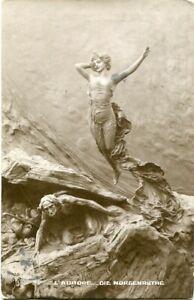 Künstler-AK EROTIK Frau nackt, L'Aurore /die Morgenröte 1913