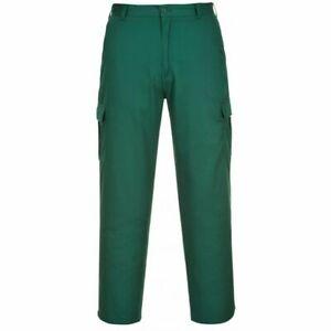 "Portwest Mens work trousers Ambulance Paramedic Hospital Green combat 32"" waist"