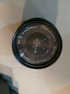 Vivitar 28mm 1:2 Lens MC Wide Angle 55mm CANON FD Mount + LENS CAPS