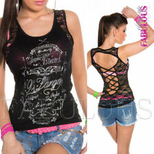 Women's Polyester Multi-Colored Sleeveless Casual Tops & Blouses