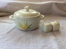 Winfield Bird Of Paradise Covered Casserole And Salt & Pepper MCM