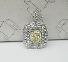 IGI 0.60ct Fancy Yellow Diamond Pendant 18K Gold