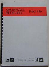 Vauxhall Bedford Fact File 1980 original UK Market Press Information Booklet