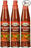 JAMAICAN Grace Hot Pepper Sauce 3 oz Pack of 3 - FROM JAMAICA