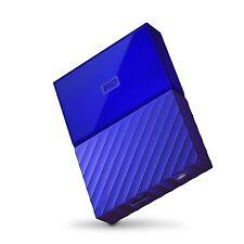 WD My Passport USB 3.0 Portable Storage External Hard Drive 2017 4TB Blue MP