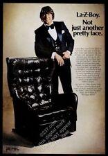 1974 Joe Namath photo La-Z-Boy recliner chair vintage print ad