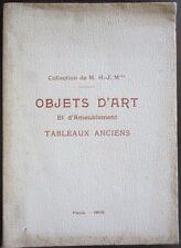 Catalogue de vente tableau ancien MOBILIER XVIIe XVIIIe Style Louis XV XVI 1905