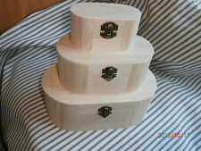 Plain Wooden Oval Boxes for Decoupage or Painting