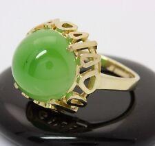 ♦8kt 333 breiter großer Damen Ring in Gold mit Jade Jadering Jadestein Goldring