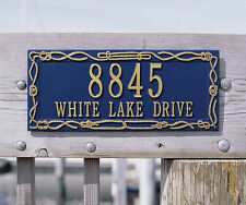 Whitehall Sailor's Knot Nautical Address Personalized Plaque Sign - in 17 Colors