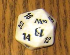 1 White SPINDOWN Die m10 - 20 sided Spin Down Dice MtG Magic the Gathering