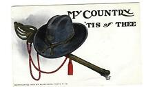VTG Patriotic Postcard MY COUNTRY TIS OF THEE Hat Sword Blanchard Young 1906
