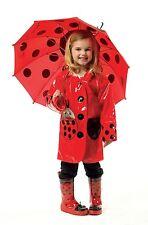 Children Kids Boys Girls Waterproof Hooded Rain Coat Jacket Raincoat Uclbm Ladybug 2-3 Years
