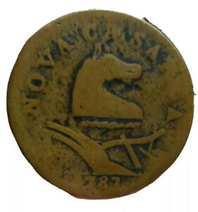 1787 New Jersey Colonial Copper Cent. Small Head