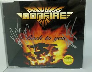 Maxi-CD BONFIRE Back to you, sehr gut, signiert