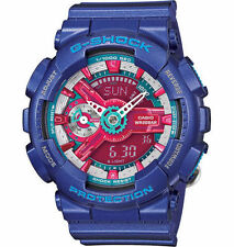 NIB Casio Gshock S Series Fashion Blue Purple Ana-Digital Watch GMAS110HC-2A