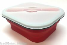 Food Container 3 Piece with Utensil - Fresh 2 Go Collapsible Silicone  22195