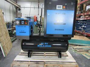 Air-Max 15hp Rotary Screw air Compressor W/dryer/filters/120 tank 12 Year warran