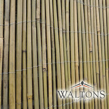 More details for bamboo slat or cane screening roll garden fencing panel outdoor privacy fence 4m