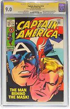 CGC 9.0 CAPTAIN AMERICA #114~SIGNED STAN LEE & JOHN ROMITA -MARVEL COMICS~1969