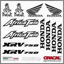 12x Kit HONDA Africa Twin XRV 750 Black ADESIVI PEGATINA STICKERS AUTOCOLLANT