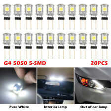 20X G4 5 SMD 5050 LED Cool White Replace Halogen Bulb Boat Home Light Lamp DC12V