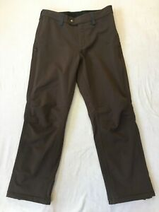 Outdoor Research Pant Women's Brown Nylon Fleece Lined Large Ski Snow Pant 32X30