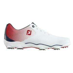 Footjoy DNA Helix Golf Shoes - White/Red/Blue - Previous Season Style