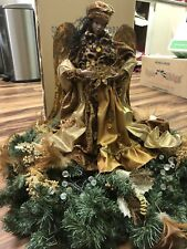 African American Christmas Angel Table Topper 18.5 inch - bnfits charity USA Sel