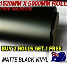 BRAND NEW Quality Matte Black Car Vinyl Wrap Sticker decals1.51 X 5 metre,OZ...