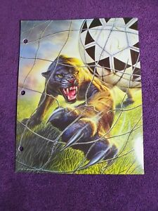 Mead No Rules Folder Portfolio Sports Panther Soccer Vintage 90s School Art 1995