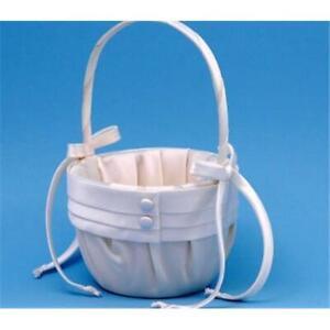 Ivy Lane Design 59VI Audrey Flower Girl Basket - Ivory