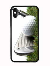 3 Iron Golf Club Hitting Golf Ball For iPhone XS (2018) / iPhone X (2017) Case