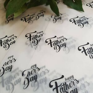 10x A5 Father's Day Translucent Printed Packaging Sheets In Vellum Tissue Paper